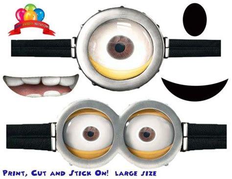 printable purple minion eyes goggles mouths free printable despicable me 2 minion