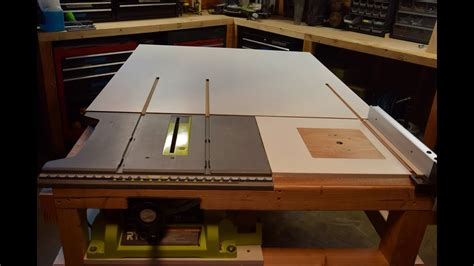 built with how to build a table saw extension with a router