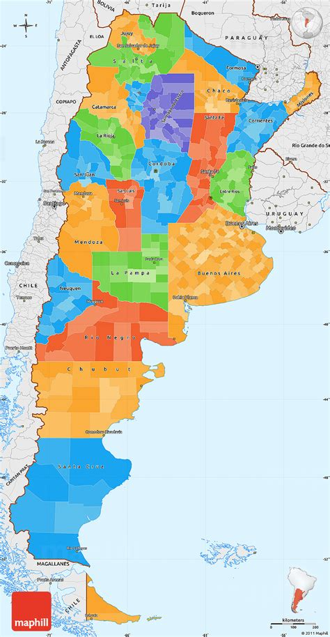 argentina political map political simple map of argentina single color outside