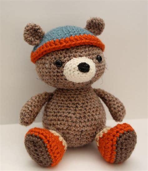 amigurumi patterns etsy amigurumi crochet pattern bernie bear by littlemuggles on etsy