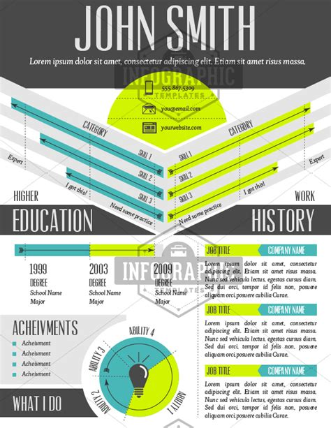 infographic resume template dreamcatcher