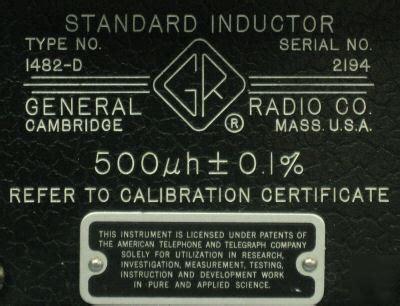 standard inductors calibration standard inductor 28 images 500 mkh 0 025 inductor standard inductance p5106 an g marconi gr
