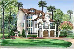 italian style home plans italian style house plans 3596 square foot home 3 story 3 bedroom and 3 bath 2 garage