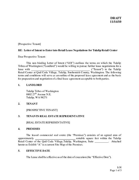 letter of intent exle sle letter of intent to return leased equipment 1401