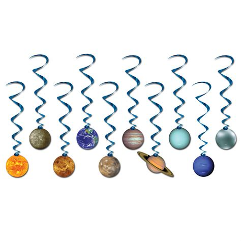 space solar system planets party hanging decoration