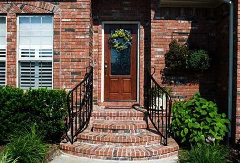 Front House Stairs Design Building Exterior Stairs With Bricks And Modern Tiles
