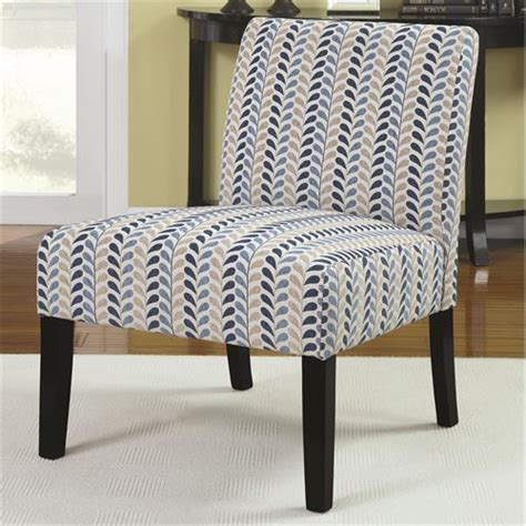 Coaster Accent Chair by Coaster Furniture 902059 Armless Accent Chair In Blue