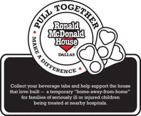 ronald mcdonald house dallas pop tab urban myth addressed by ronald mcdonald house in dallas pediatrics