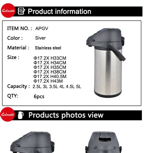 Teko Termos Air Stainless Steel Vacuum Coffee Pot 1 5lt New Promo 84oz wall stainless steel vacuum coffee thermos air