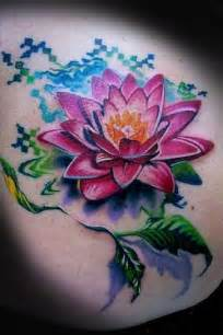 Colorful Lotus Flower Tattoos A Colorful And Creative Lotus Flower Design That Is