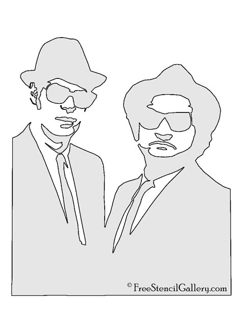 blues music coloring pages blues brothers stencil free stencil gallery