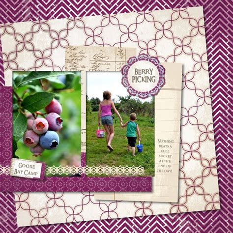 Scrapbook Layout Generator | 42 best scrapbook fruit picking images on pinterest