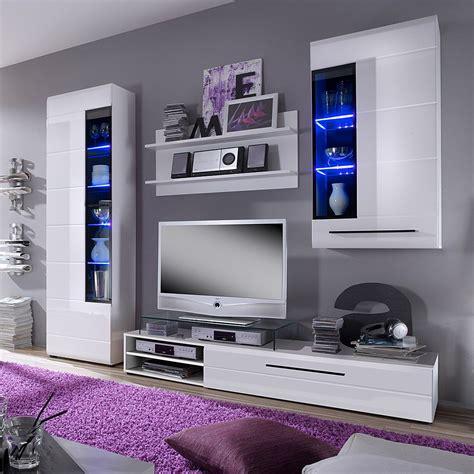 tv wandschrank hängend wohnwand ii 4 teilig inkl beleuchtung wei 223