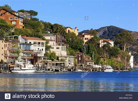 Marin County Search Waterfront Homes In Tiburon Marin County California United States Stock Photo