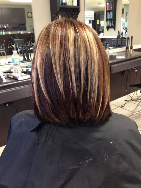partial highlights for brunettes chunky blonde brown burgundy highlights i m a