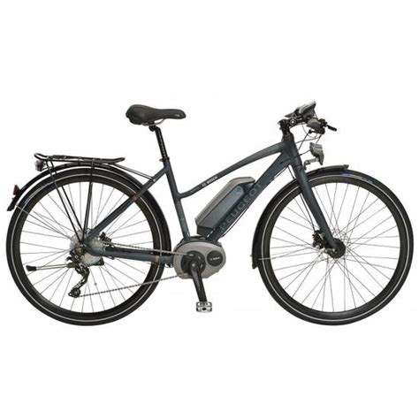 peugeot hybrid bike peugeot et01 100 ladies hybrid electric bike 2016