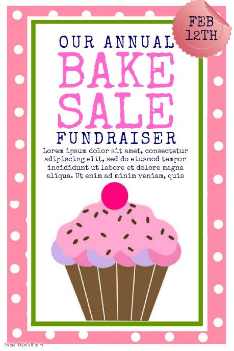 bake sale flyer template free bake sale template postermywall