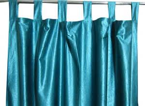 Teal Blue Curtains Drapes 2 India Silk Sari Curtain Teal Blue Tab Top Drapes Panel Contemporary Curtains
