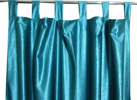 teal silk curtains 2 india silk sari curtain teal blue tab top drapes panel