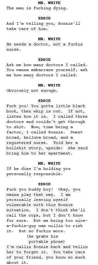 reservoir dogs script was reading the reservoir dogs script and saw bonnie from pulp fiction was mentioned