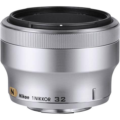 Nikon 1 Nikkor 32mm F 1 2 Silver nikon 1 nikkor 32mm f 1 2 lens silver 3360 b h photo