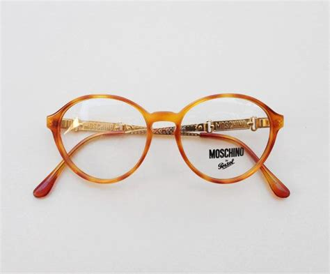 moschino by persol vintage eyeglasses 80s caramel
