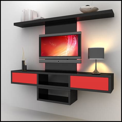 tv wall units tv wall unit modern design x 09 3d models cgtrader