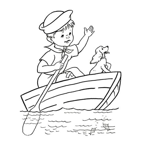 coloring page for free printable boat coloring pages for best