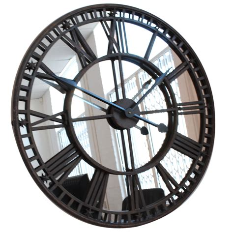 Clocks And Mirrors Antique Mirror Iron Skeleton Wall Clock