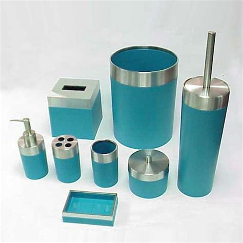 turquoise and brown bathroom accessories teal bathroom
