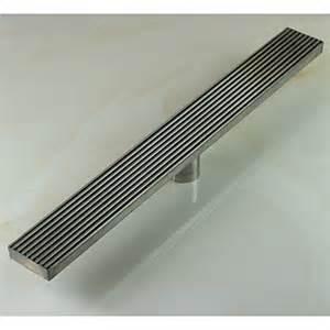linear floor shower drain stainless steel adjustable exit