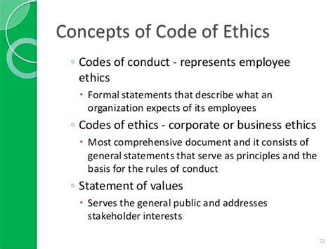 company code of ethics template code of ethics exles search codes of ethics