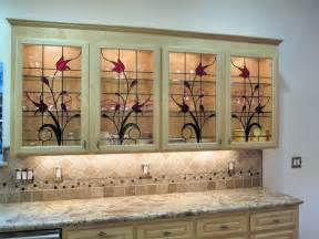Leaded Glass For Kitchen Cabinets Stained Glass Cabinet Inserts Hawkings Residence Traditional Kitchen Orange County By