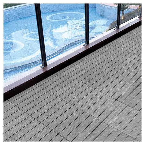 Materiaux Composite Pour Patio by Tuile 224 Patio Composite 12 X 12 Gris Bo 238 Te De 10 Rona