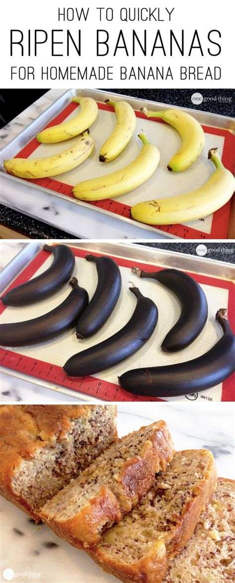 how to quickly ripen bananas for homemade banana bread one good thing by jillee