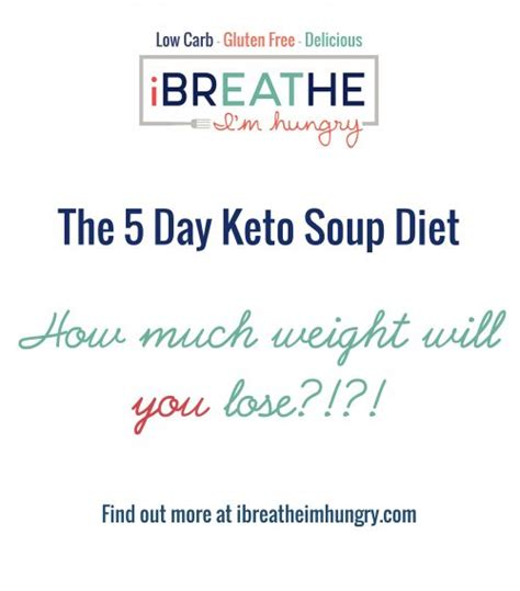 Keto Detox Plan by Ibih 5 Day Keto Soup Diet Low Carb Paleo I Breathe I