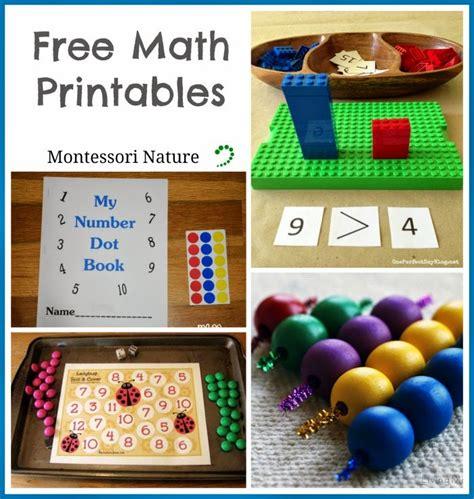 montessori nature free montessori math worksheets free math printables montessori nature