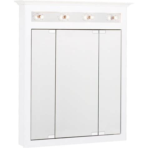 shop project source 36 in shop project source 31 75 in x 36 in rectangle surface mirrored particleboard medicine cabinet