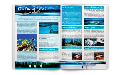 design lop travel new caledonia travel brochure the basic design studio