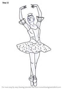 learn draw ballerina ballet step step drawing tutorials