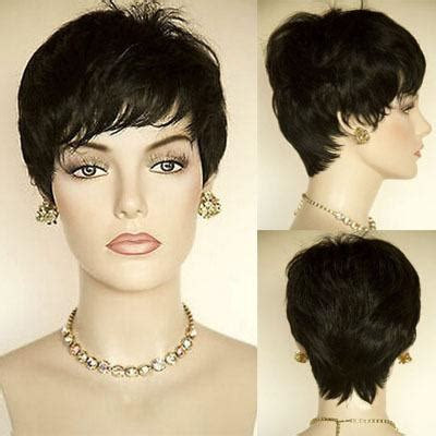 pixi afro wigs fashion short black african american wig for black women