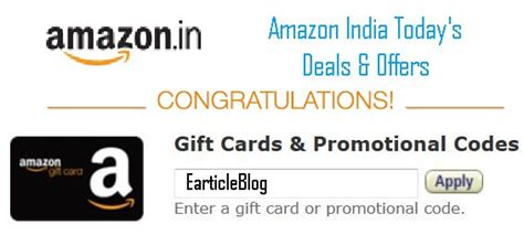 Gift Card Or Promotional Code For Amazon - amazon india promo code coupons today s deals discounts earticleblog