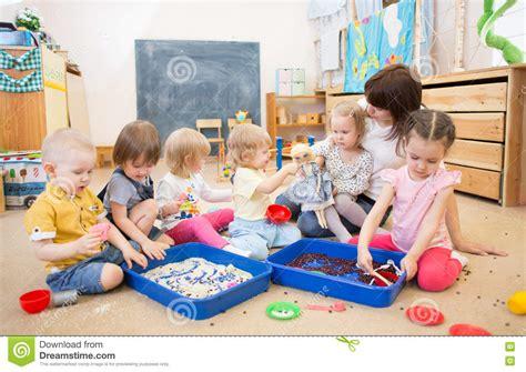 children with improving motor skills in kindergarten stock photo image 71029138