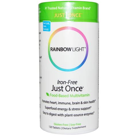 rainbow light just once rainbow light just once iron free food based