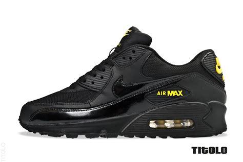 Nike Airmax 90 Black nike air max 90 black black golden sash