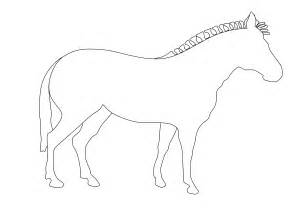 Zebra Outline Picture by The Boot Kidz Zebra Outline For Colouring In
