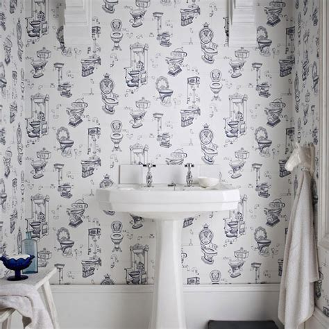 black and white printed pattern toilet seats toilet heaven white sapphire blue novelty wallpaper