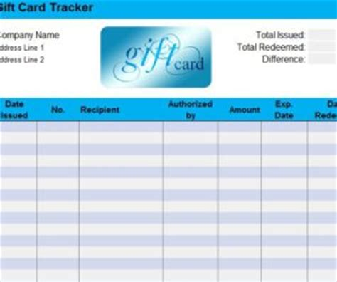 gift card log template gift card sheet my excel templates