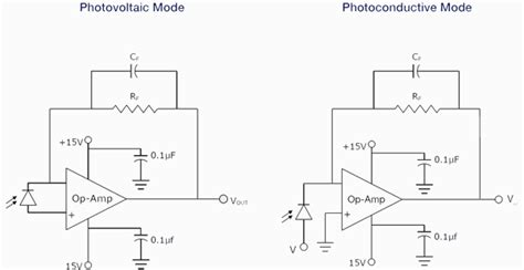 photodiode light detector circuit photodiode operating circuits