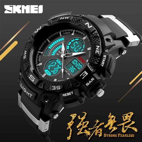 Jam Tangan Skmei Digital Analog Ad1211 skmei jam tangan digital analog pria ad1211 black